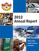 2012 Annual Report: Non-hazardous Waste Disposal and Diversion: Follow-Up Report