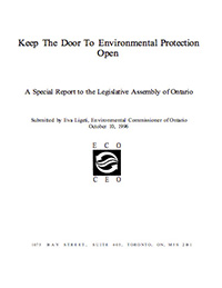 1996 Special Report: Keep the Door to Environmental Protection Open