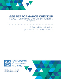 2016 Special Report: EBR Performance Checkup