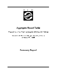 Aggregate Round Table