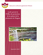 Audit spécial de l'Office de protection de la nature de la péninsule du Niagara