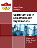 Special Report on Consultant Use in Selected Health Organizations
